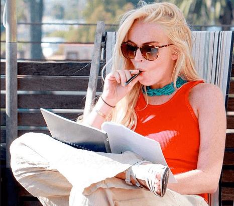 lohan z e-papierosem